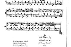 piyano Bir gül-i rânâya gönül bağladım ilk Notacı Hacı Emin Efendi 2