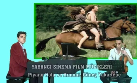 CESUR YÜREK Sinema Film Fon Müzik Piyano ve Keman
